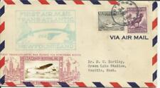 Canada FIRST FLIGHT Mu#326 Botwood to Foynes, CROSBY CACHET, backstamped