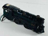 Vintage Wind-Up Pressed Steel w/ Original Key Toy Train Engine