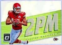 PATRICK MAHOMES 2017 Panini Donruss Optic Prizm 2PM Silver Rookie Card RC Chiefs