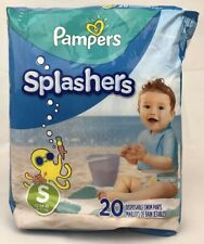 Pampers Splashers ~ Disposable Swim Diapers ~ Size Small ~ 13-24 Lb ~ 20 Count