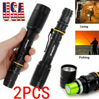 2XZoomable 50000LM High Police Power T6 LED Flashlight Lamp Torch 18650 Charger-