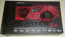 Creative Sound Blaster Zx PCI Express Sound Card With External Module LOW USAGE