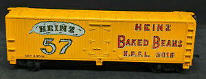 HO Bachmann: HEINZ 57 BAKED BEANS HPFL 3015 YELLOW REEFER BOXCAR VINTAGE