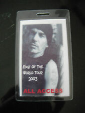 Bill Bob Thornton Edge of the World 2003 All Access Tour Backstage Concert Pass