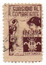 Sello Local Guerra Civil Santander -Cat. Galvez B781.  ORD:1215