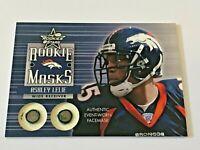 2002 Leaf Rookies & Stars Football Rookie Masks - Ashley Lelie RC - Broncos