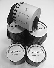 6 Rolls of DK-2205 Brother-Compatible Labels with 1 Reusable Cartridge