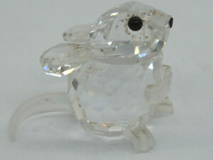 Swarovski Rare Miniature Crystal Mouse Figurine - Original Box made in Austria