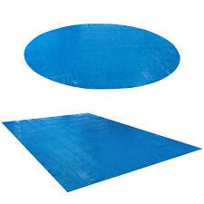 AREBOS Cubierta Solar para Piscina Manta para Piscina Ronda o Rectangular Azul