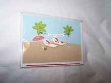 Hallmark Signature Valentine's Day Greeting Card; Beach Scene, Palm Trees