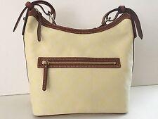 Dooney & Bourke Medium Fabric & Leather Yellow Hobo Bag Handbag Purse NWT