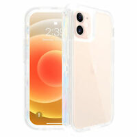 For iPhone 12,12 Pro 11 Pro Max Clear Heavy Duty Shockproof Defender Case Cover