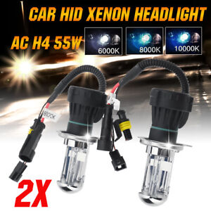 2pcs H4 55W AC Hid Xenon Universal Car Headlights Light Bulbs Conversion Kit