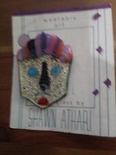 RARE SHAWN ATHARI WEARABLE ART PIN MADE FROM USED GLASS