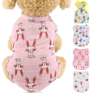 Pets Dog Puppy Summer T Shirt Vest Breathable Mesh Cute Printed Shirt Clothes