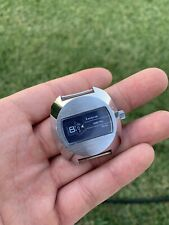 Vintage Lucerne Blue Silver Digital Mens Wind Up Watch