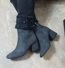 ZARA NEW ANKLE BOOTS BLOCK HEEL SHOES  SIZE UK 4 EURO 37 US 6.30