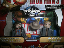 MARVEL MINIMATES IRON MAN 3 COWBOY DISGUISE TONY STARK ALDRICH KILLIAN