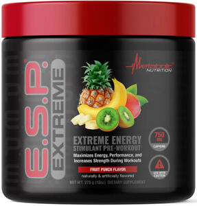 * METABOLIC E.S.P. EXTREME 50 SERVE 275G HIGH-STIM PRE-WORKOUT - FRUIT PUNCH *