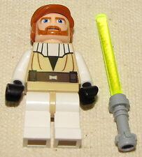 LEGO NEW STAR WARS YOUNG OBI WAN KENOBI MINIFIGURE JEDI MINIFIG WITH SABER