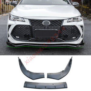Glossy black Front Bumper Lip Spoiler Splitter 3PCS For Toyota Avalon 2019-2021