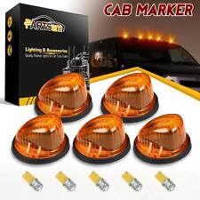 5) For 73-87 Chevy C/K Amber 1313A Cab Clearance Marker Light+3528 T10 Amber LED