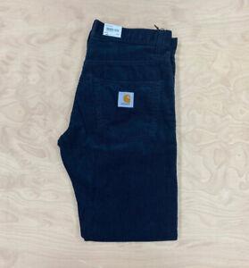 Carhartt Wip Klondike 12 wale Corduroy Regular tapered fit  Pant Navy Blue