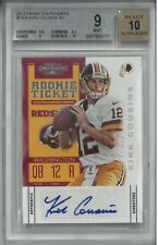 2012 Panini Contenders #155A Kirk Cousins Autographed Card BGS 9 AUTO 10 VIKINGS