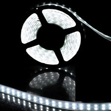 Double Row White 5M 16.4ft 5050 600LED Tube Waterproof Strip Light 12V 120l