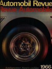 AUTOMOBIL REVUE 1966 PRIMA EDIZIONE AA.VV.  1966