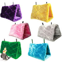 1× Plush Hut Hammock Hanging Cave Cage Snuggle Tent Bed Bird Parrot Toy Randomly