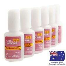 5 Pcs Nail Art Glue With Brush On Strong Adhesive Lady Fake Acrylic False