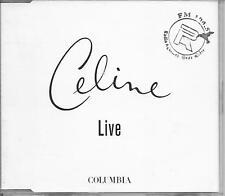 CELINE DION - Live PROMO CD SINGLE 1TR (SAMPCS 8302 1) 2000 COLUMBIA Cocciante