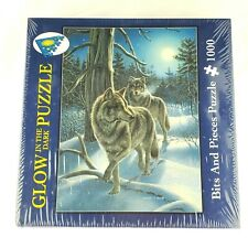 Bits and Pieces Puzzle Wolves Glow in the Dark 1000 Pieces