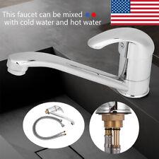Bathroom Kitchen Basin Faucet Waterfall Spout Sink Mixer Single Handle Hole Tap