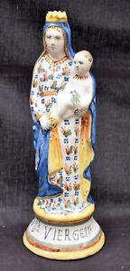 Vierge ancienne en faïence de Quimper