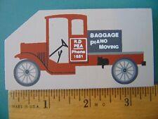 Fj Designs The Cat's Meow Village 1994 Accessory, #220 Moving Truck