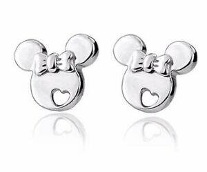 Cute Children's Sterling Silver Minnie Mouse Stud Earrings