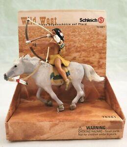 WILD WEST SCHLEICH 70301 VINTAGE RARE SIOUX ARCHER ON HORSE