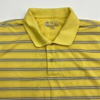 Izod Cool FX Golf Polo Shirt Men's 2XL XXL Short Sleeve Yellow Striped Polyester