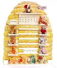 New 2001 Steiff 027307 Perpetual Calendar 12 Teddy Bear LE 2001 w/ Original Box