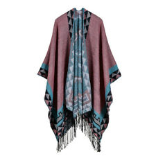 Aztec Festival WRAP PONCHO South American BOHO HIPPY open Cape DUSKY PINK Shawl