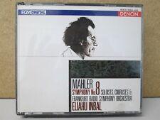 JAPAN Denon 60CO-1564-65- Mahler Symphony No 8 Eliahu Inbal Frankfurt RSO 2-CD