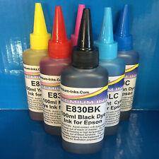6x100ml Printer Refilling Refill Ink Bottles For Epson Stylus Photo R1400 R1500W