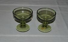 IMPERIAL GLASS GREEN SHERBET SET OF 2