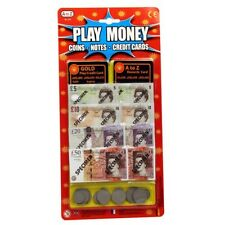 Play Money Coins Notes Credit Cards kids Rewards Set For Children Art & Fun Play