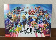 Super Smash Bros Ultimate Panoramic Poster Art Pamphlet - Nintendo Switch Promo