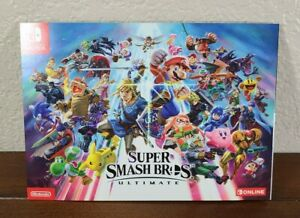 Super Smash Bros Ultimate Panoramic Poster Art Pamphlet - Nintendo Switch Promo
