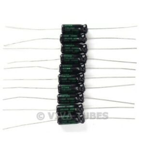 Lot of 10 New Sprague Atom 50uF 50V Electrolytic Capacitors 20% TVA-1308