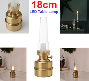 IKEA STRALA STRÅLA LED Table Lamp Battery Lamplight Brass Warm Light Lantern New